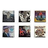Hudson Hi-Fi LP Schallplatten-Wanddisplay - Schwarzer Satin - Zeigen Sie Ihr tägliches Hören mit Stil an - Six Pack